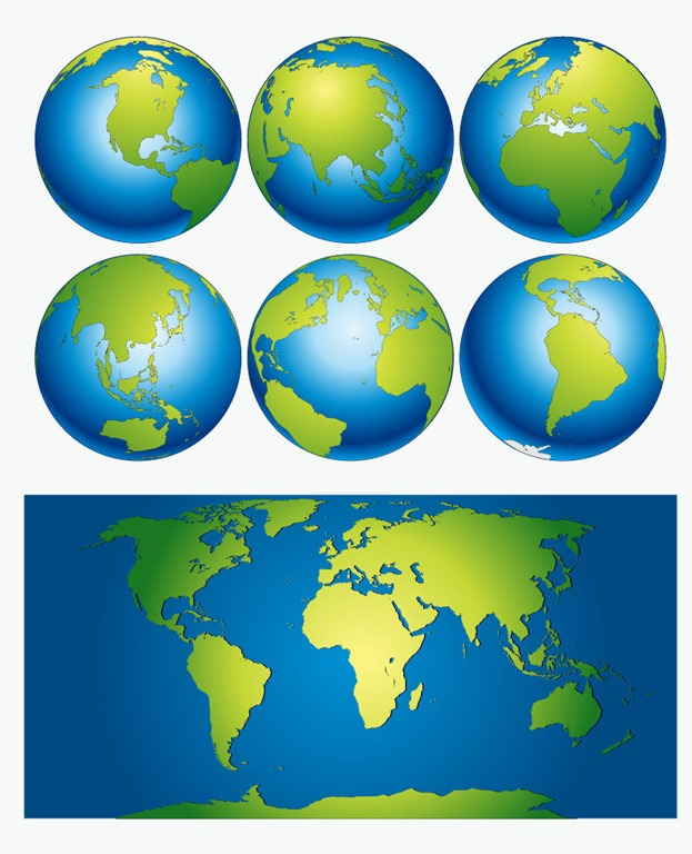 Vector world map free vector graphics all free web resources for vector world map gumiabroncs Gallery