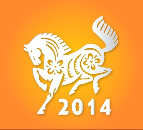 Year of The Horse Vector Illustration