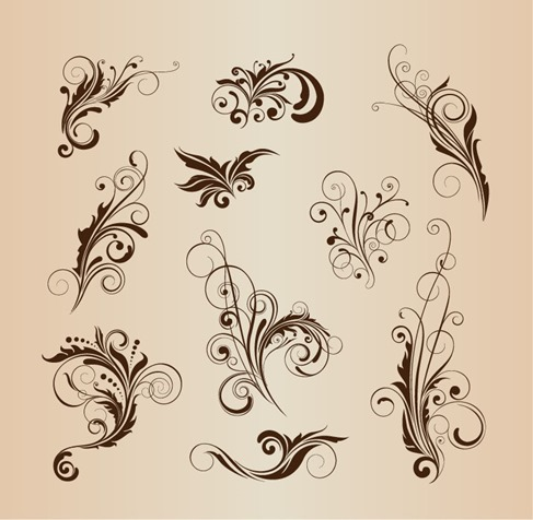 Vector Set of Pattern Design Elements