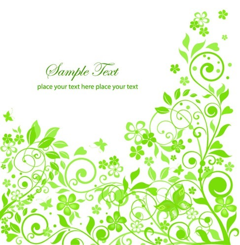 Green Floral Design Vector Illustration