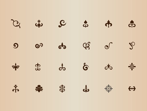 Vector Set of Ornamental Design Elements