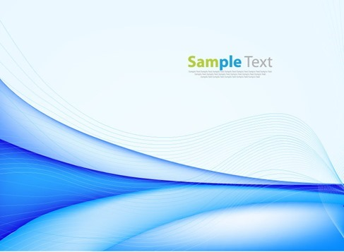 Abstract Background with Blue Wave Vector Illustration