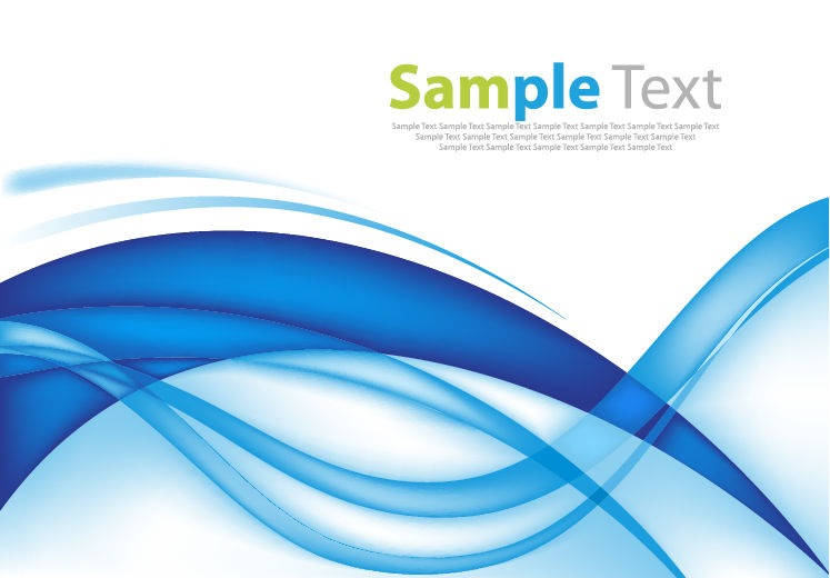 Abstract Design Blue Wave Background Free Vector Graphics