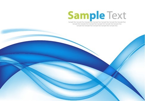 Abstract Design Blue Wave Background