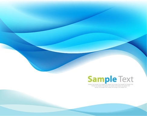 Blue Modern Futuristic Background with Abstract Waves Vector
