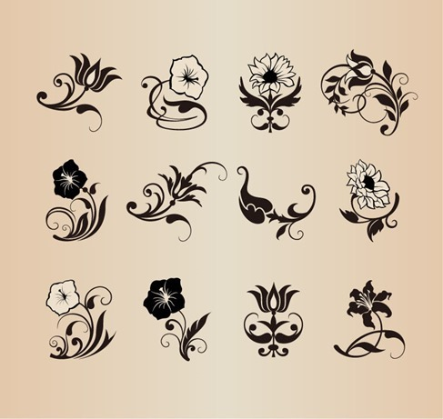 Floral Flower Vector Design Elements