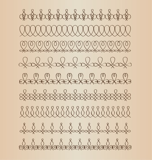 Vector Line Border Set Design Element