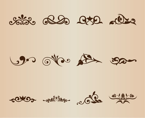 Vector Set Decorative Design Elements