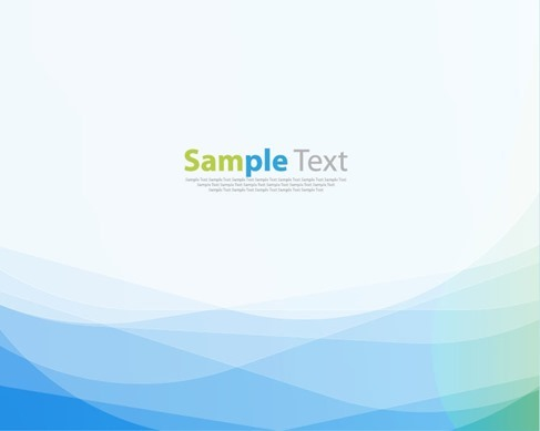 Abstract Blue Green Wave Background Vector Illustration Art