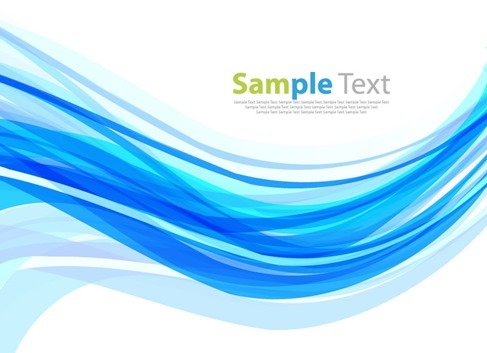 Abstract Blue Wave Design Vector Background