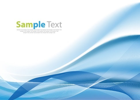 Blue Wave Line Design Background Vector Illustration