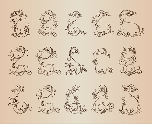 Floral Patterns for Design Isolated Vector Illustration