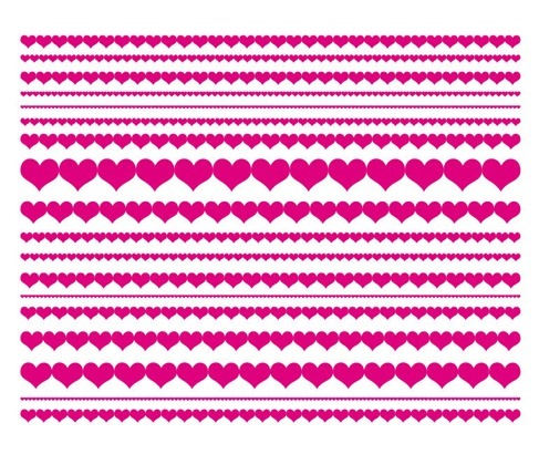 Love Heart Lines Vector Illustration