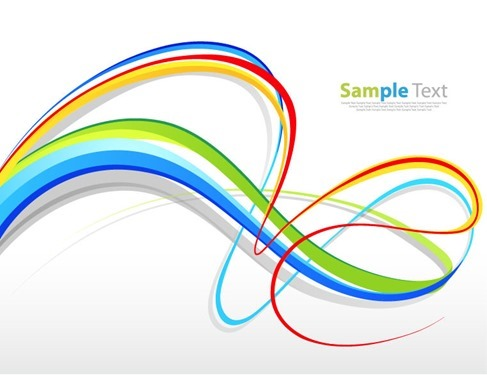 Abstract Colorful Curves Background Vector Illustration