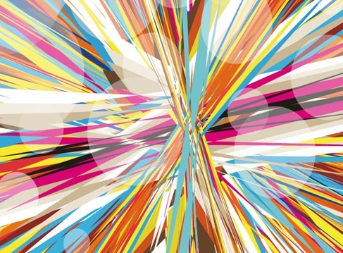 Abstract Colorful Mess Background Vector Illustration