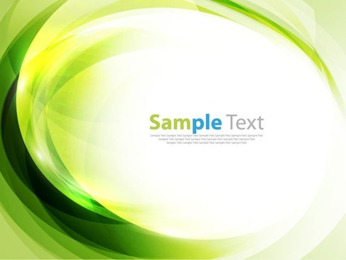 Green Abstract Art Background Vector Illustration