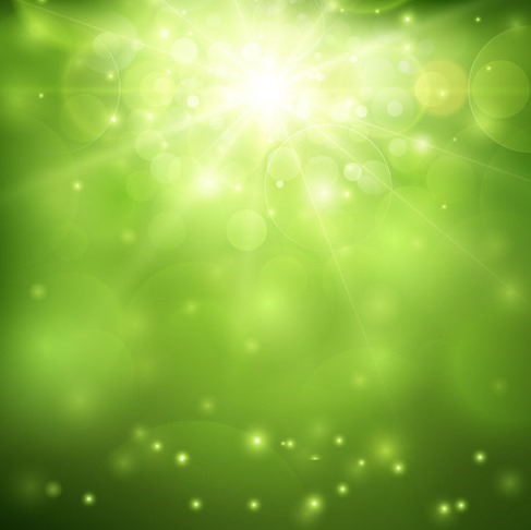 Green Blurred Background and Sunlight Vector Illustration