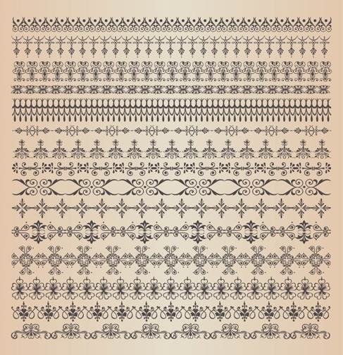 Ornamental Vector Borders or Dividers