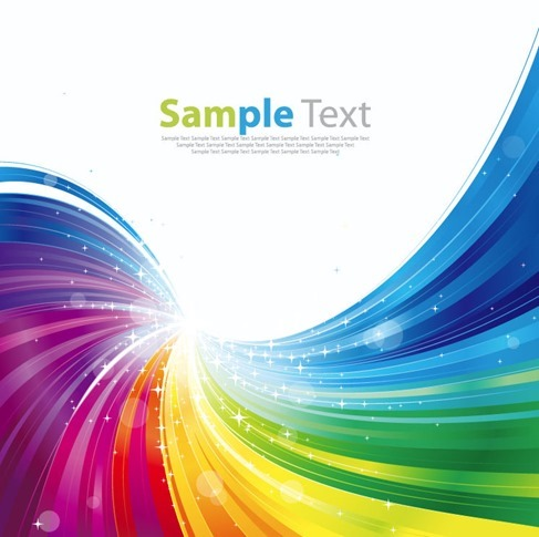Abstract Rainbow Colorful Background Vector Illustration