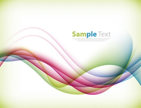 Colorful Bend Vector Background Illustration