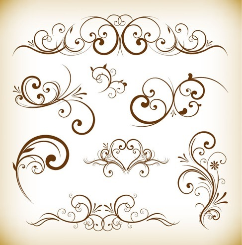 Ornament Desgin Elements Vector Illustration