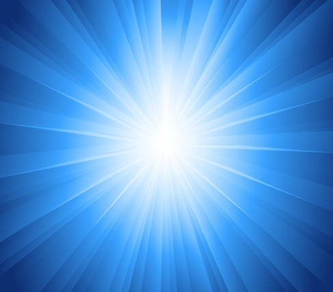Sun Rays Blue Background Vector Illustration