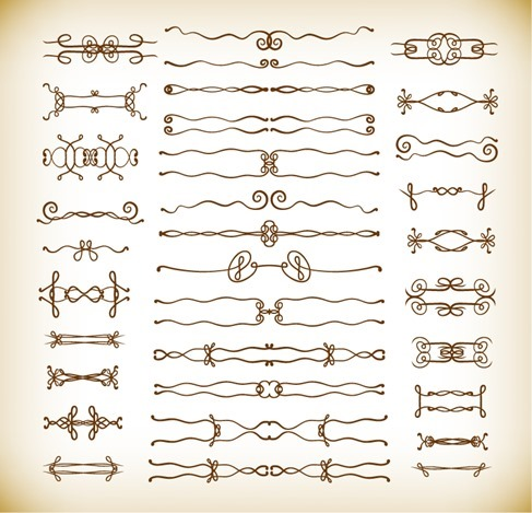 Deco Design Elements Vector Graphics