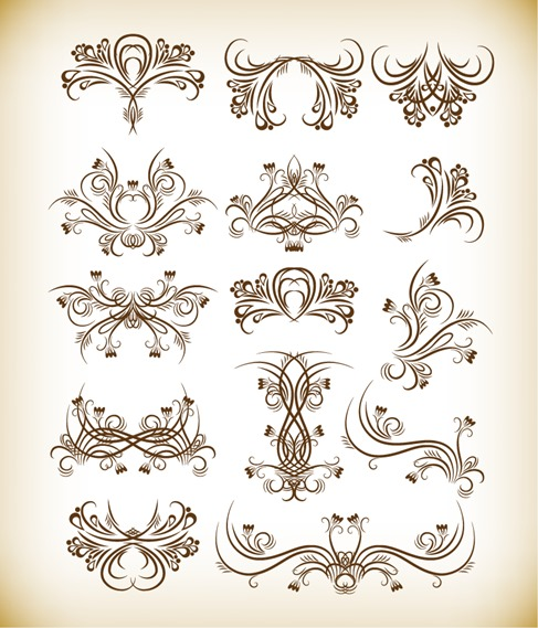 Floral Graphics Vector Set