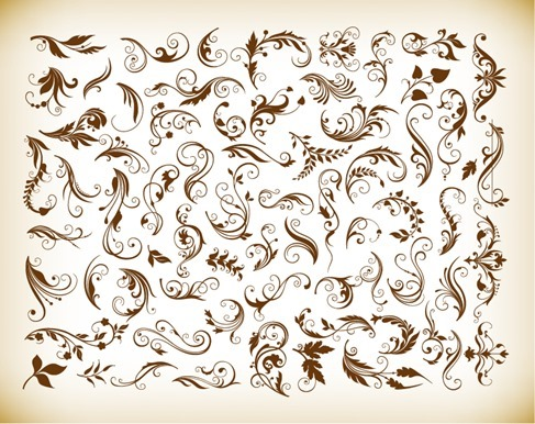Set of Floral Elements for Your Design