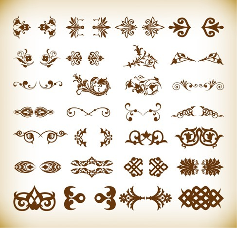 Small Decorative Elements Vector Collection