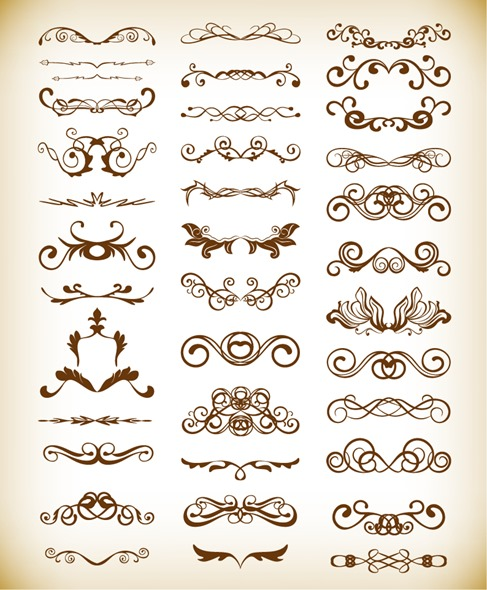 Vector Decorative Design Elements for Your Design