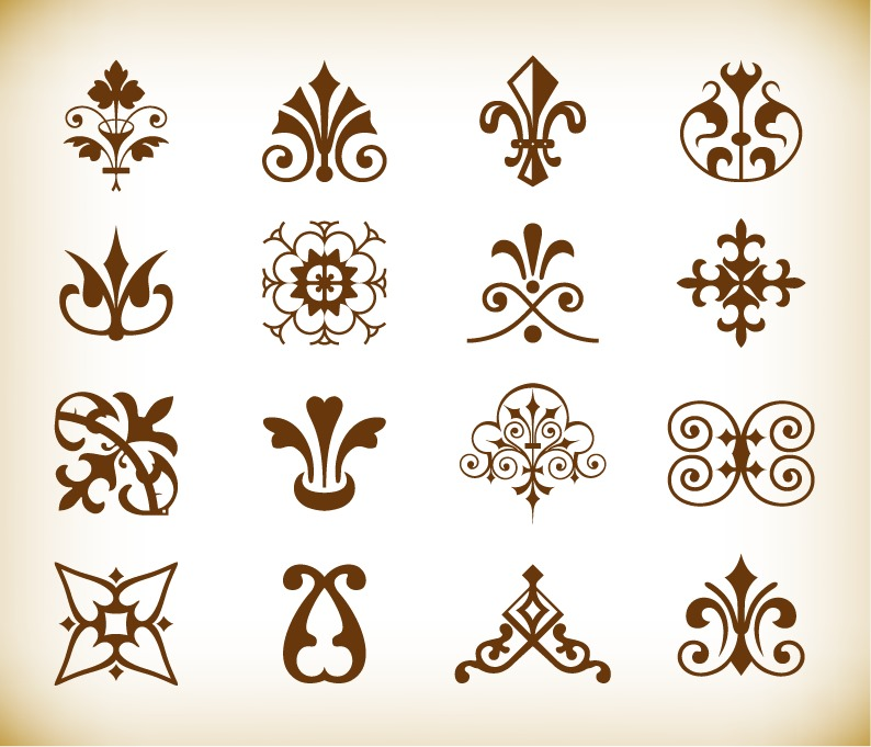 vintage deco design elements vector set free vector graphics all free web resources for. Black Bedroom Furniture Sets. Home Design Ideas