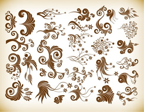 Vector Floral Symbol for Design