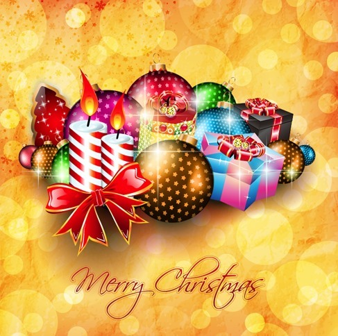 Christmas Decorations Background Vector Illustration