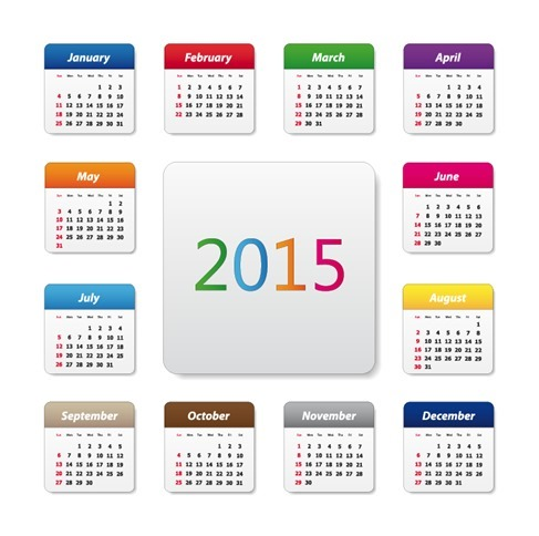 2015 Calendar Design Vector Illustration