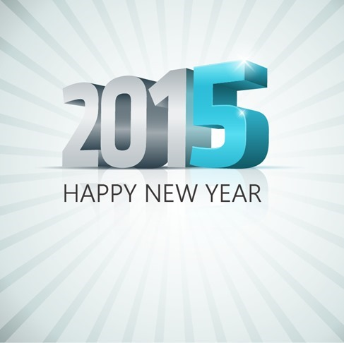 2015 Happy New Year Vector Illustration
