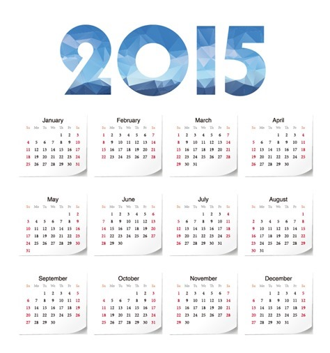 2015 Year Calendar Vector Illustration