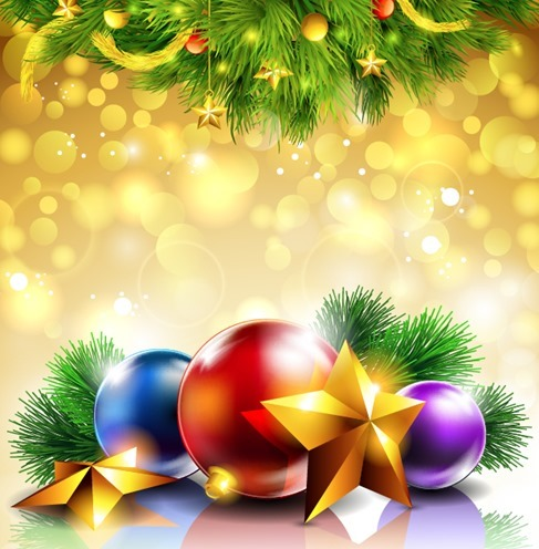 Christmas Decoration Bokeh Background Illustration