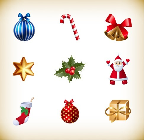 Christmas Small Icon Vector Collection