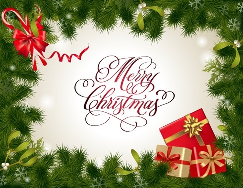 Vector Christmas Card Background Illustration