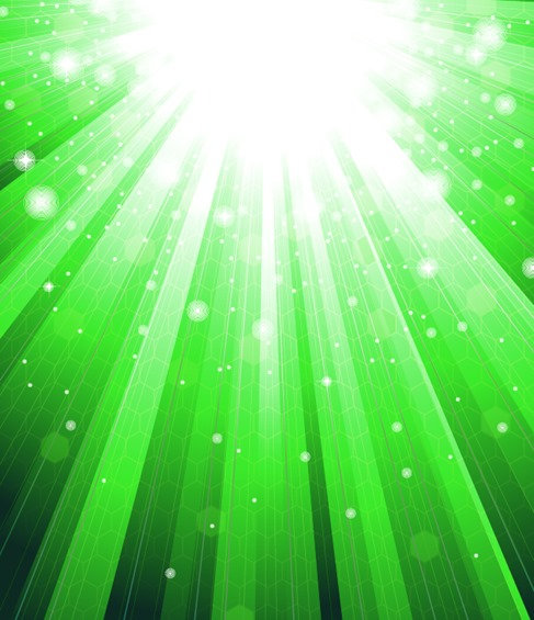 Abstract Green Sunlight Background Vector Illustration