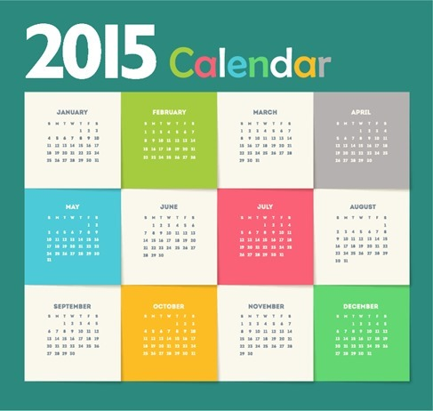 Creative New Year Calendar 2015 Vecrtor Illustration