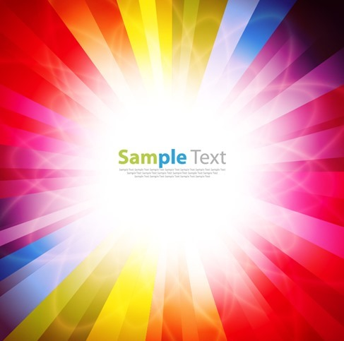 Spectrum Burst Vector Background Illustration