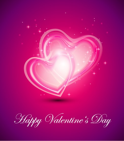 Valentine Day Background Vector Illustration