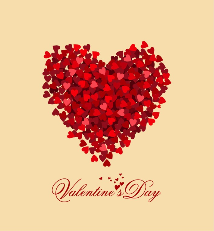 Valentine Day Heart Vector Illustration