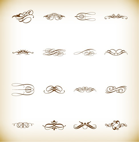 Calligraphic Design Elements Vector Illustration