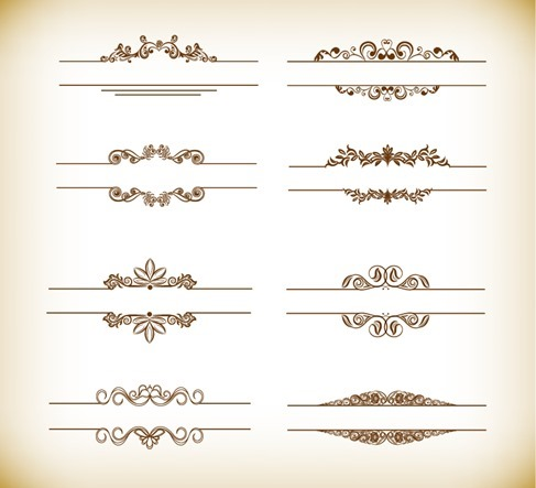 Header Frame with Retro Floral Elements Vector Illustration