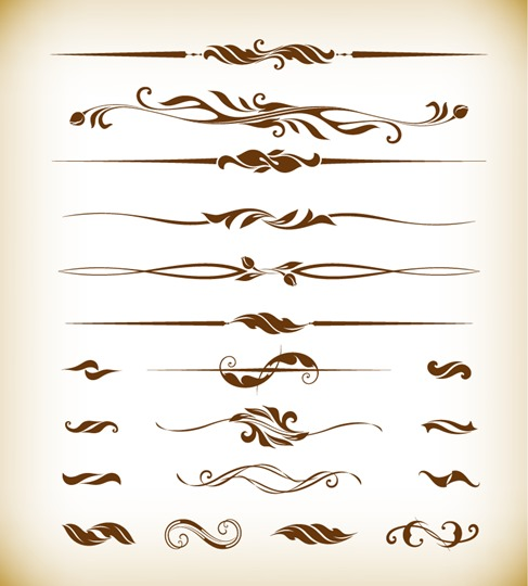 Vector Illustration of Page Decor Design Elements