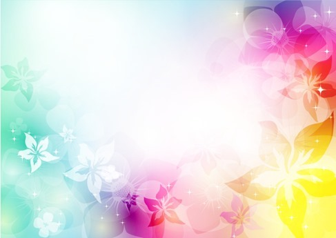 Abstract Artistic Background with Flower in Colorful Vector Illustration