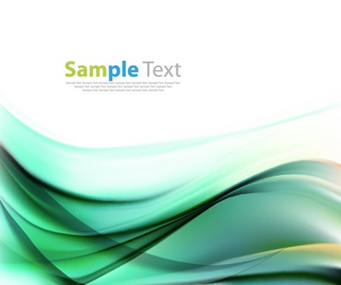 Vector Illustration of Abstract Green Waves Background